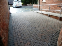 After brick weave cleaning